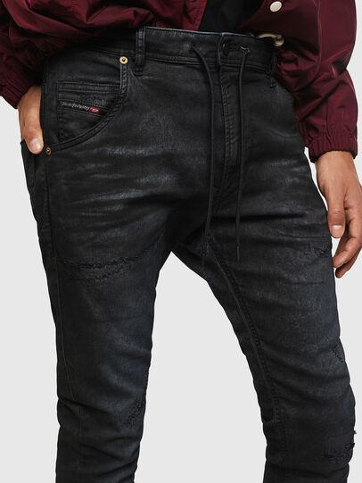 Diesel - Krooley JoggJeans 069GP, Black/Dark grey - Jeans - Image 4