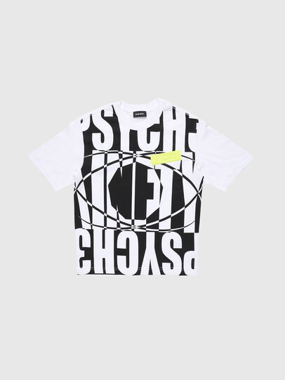 Diesel - TLUCASSLY1 OVER, White/Black - T-shirts and Tops - Image 1