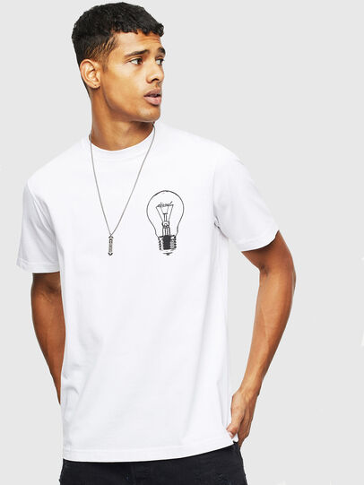 Diesel - T-JUST-T22, White - T-Shirts - Image 1