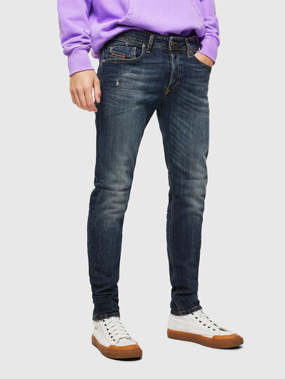 Diesel - Sleenker 069GC, Dark Blue - Jeans - Image 1