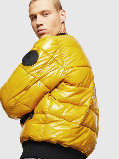 Diesel - W-ON, Yellow - Winter Jackets - Image 4