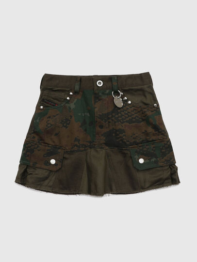 Diesel - GAMATA, Green Camouflage - Skirts - Image 1
