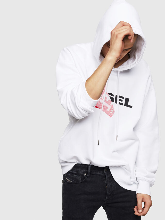 Diesel - S-ALBY, White - Sweaters - Image 4