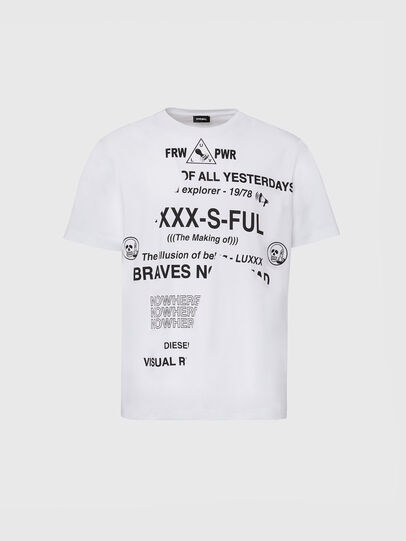 Diesel - T-JUST-FOLDED, White - T-Shirts - Image 1