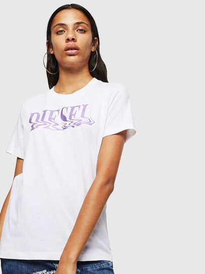 Diesel - T-SILY-WN, White/Pink - T-Shirts - Image 1