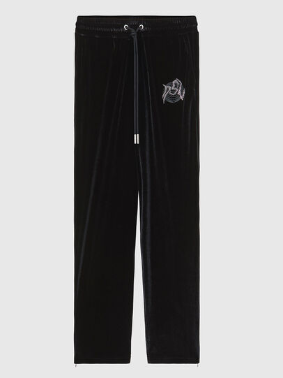 Diesel - P-CHINILLE, Black - Pants - Image 1