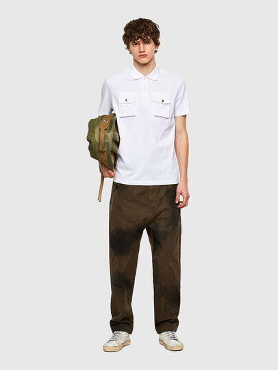 Diesel - T-ERPOLOCK, White - Polos - Image 5