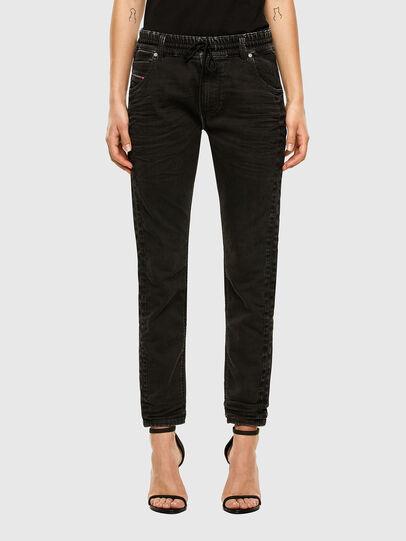 Diesel - Krailey JoggJeans 009FY, Black/Dark grey - Jeans - Image 1