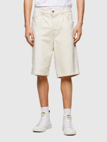 Diesel - D-FRANS-SP1, White - Shorts - Image 1