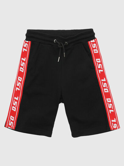 Diesel - PHITOSHI, Black/Red - Shorts - Image 1