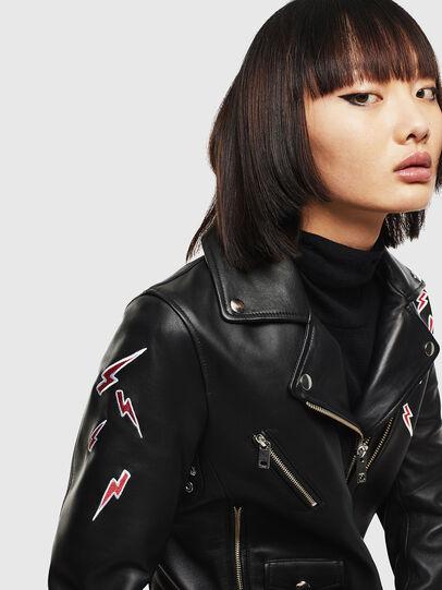 Diesel - CL-L-LYFA-BIGM, Black - Leather jackets - Image 3