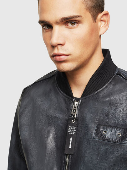 Diesel - L-OIUKI, Black - Leather jackets - Image 5
