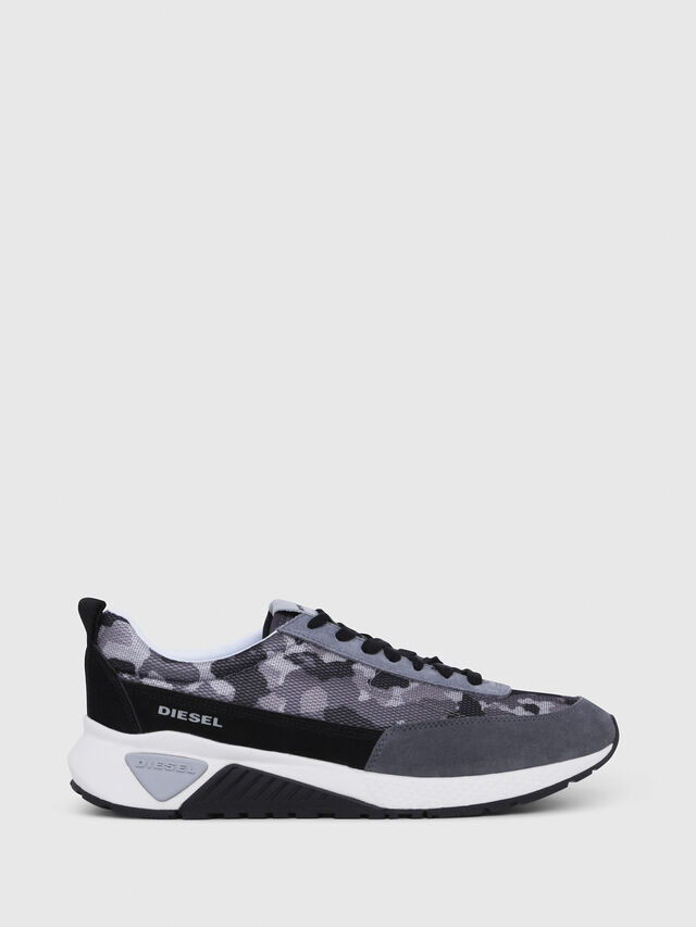 Diesel - S-KB LOW LACE, Gray/Black - Sneakers - Image 1