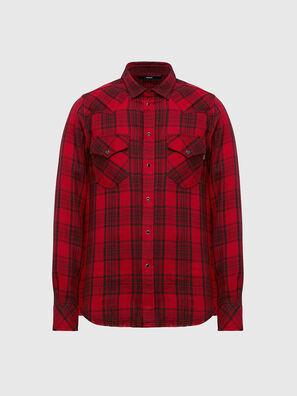 S-EAST-LONG-TUB, Black/Red - Shirts