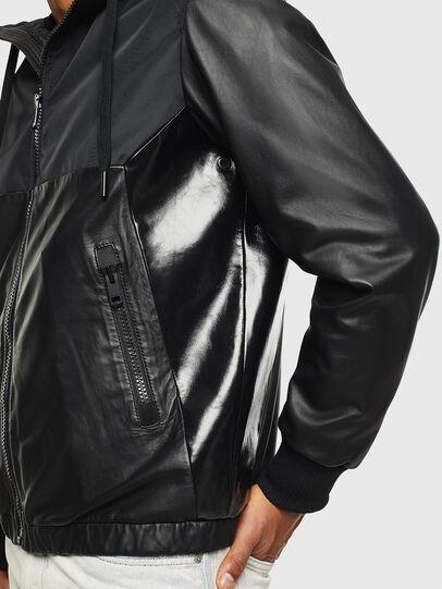 Diesel - L-CARRS, Black - Leather jackets - Image 5