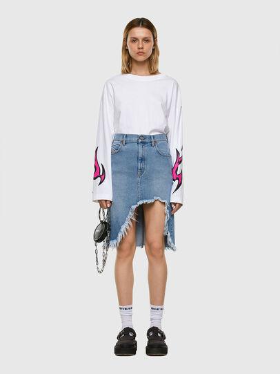 Diesel - DE-ELLYOT, Light Blue - Skirts - Image 5