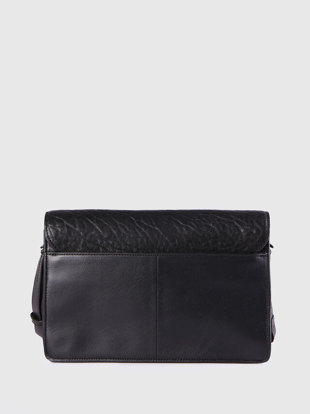 Diesel LE-MISHA, Black Leather - Crossbody Bags - Image 2