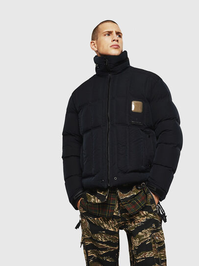 Diesel - W-PETR, Black - Winter Jackets - Image 1
