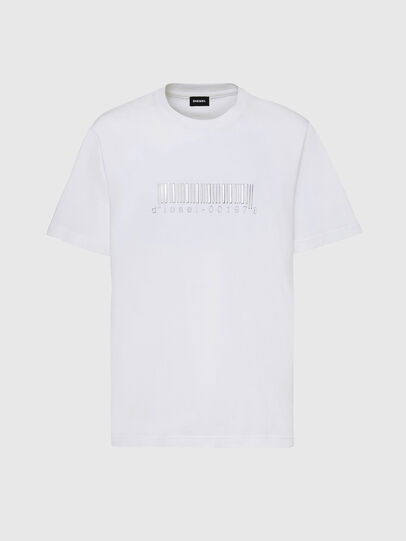 Diesel - T-JUST-SLITS-X85, White - T-Shirts - Image 1