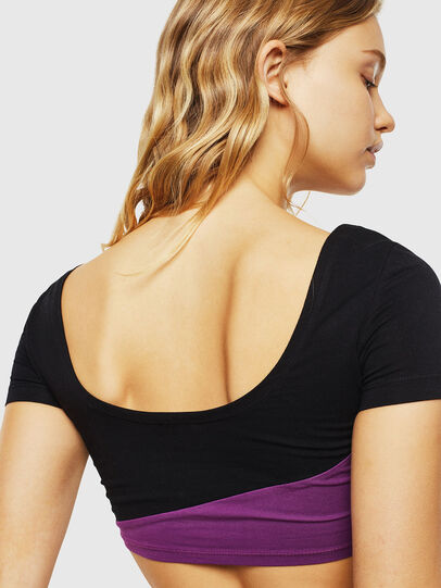 Diesel - UFTEE-CROPSV, Black/Violet - T-Shirts - Image 2