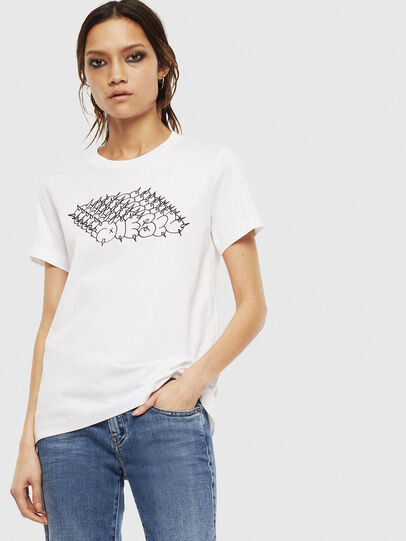 Diesel - T-SILY-S6, White - T-Shirts - Image 1