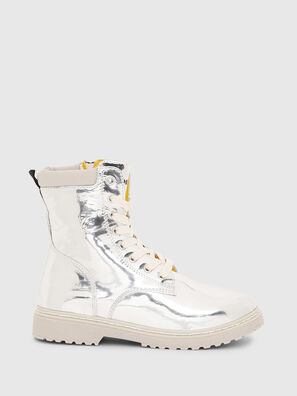 HB LACE UP 04 CH, Silver - Footwear