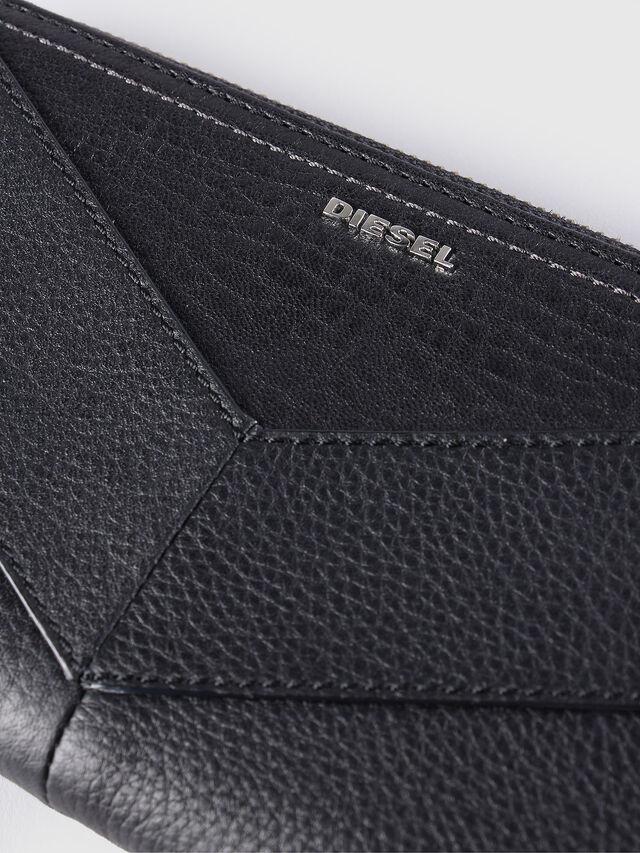 Diesel GRANATO, Black Leather - Zip-Round Wallets - Image 3