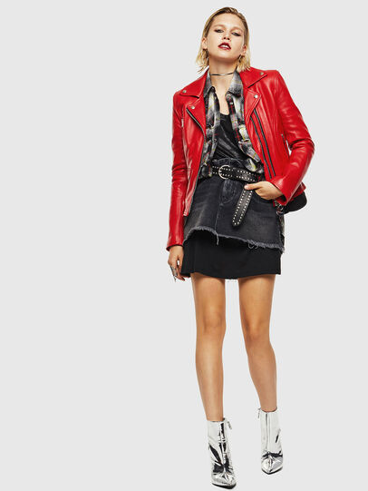 Diesel - L-CARAMA, Red - Leather jackets - Image 6