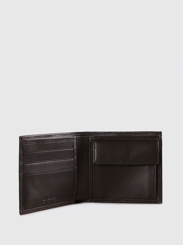 Diesel - HIRESH S, Dark Brown - Small Wallets - Image 3