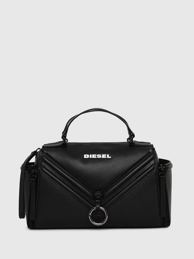 LE-ZIPPER SATCHEL, Black - Satchels and Handbags