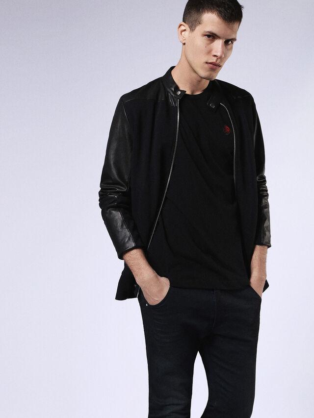 Diesel - DVL-T-SHIRT-ML-RE, Black - T-Shirts - Image 3