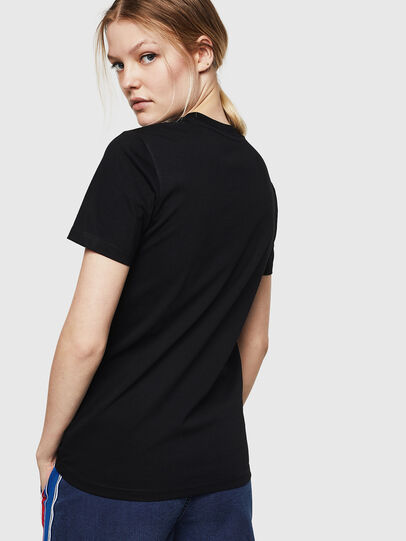 Diesel - T-SILY-ZE, Black - T-Shirts - Image 2