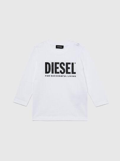 Diesel - TJUSTLOGOB ML-R, White - T-shirts and Tops - Image 1