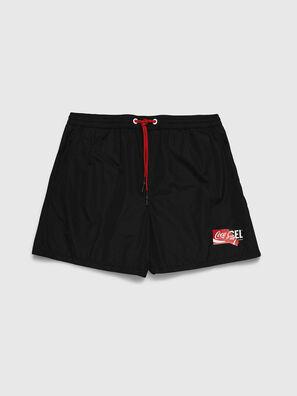 CC-WAVE-COLA, Black - Swim shorts