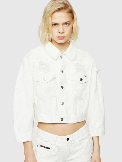 Diesel - DE-CATE, White - Denim Jackets - Image 1