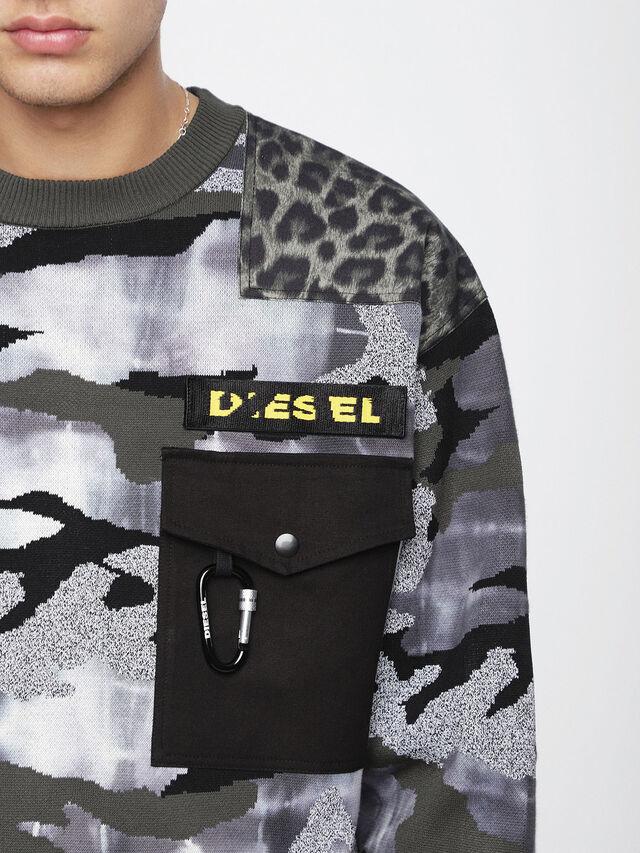 Diesel - K-CAMOU-E, Military Green - Knitwear - Image 3