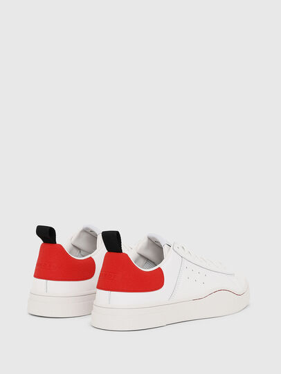 Diesel - S-CLEVER LOW, White/Red - Sneakers - Image 3
