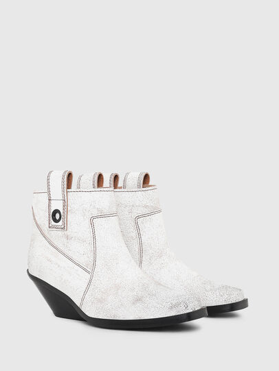 Diesel - D-GIUDECCA MAB, White - Ankle Boots - Image 2