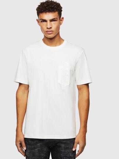 Diesel - T-JUST-POCKET-J1, White - T-Shirts - Image 1
