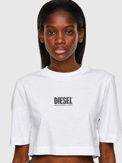 Diesel - T-RECROP-ECOSMALLOGO, White - T-Shirts - Image 3