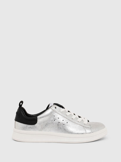 Diesel - SN LOW LACE 11 FULL, Silver/Black - Footwear - Image 1