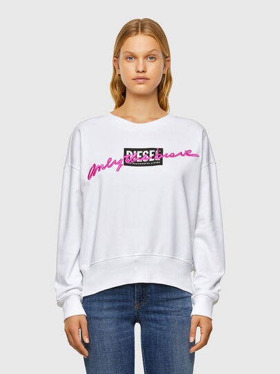 Diesel - F-MAGDA-V50, White - Sweaters - Image 1