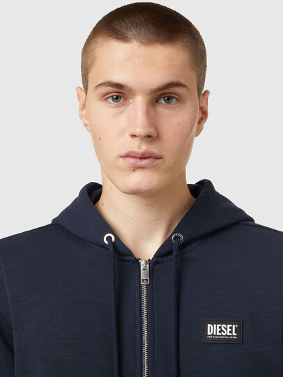 Diesel - S-GIRK-HOOD-ZIP-B2, Dark Blue - Sweaters - Image 3