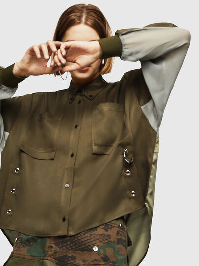 Diesel - C-LEXYS, Military Green - Shirts - Image 3