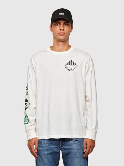 Diesel - T-JUST-LS-N60, White - T-Shirts - Image 1