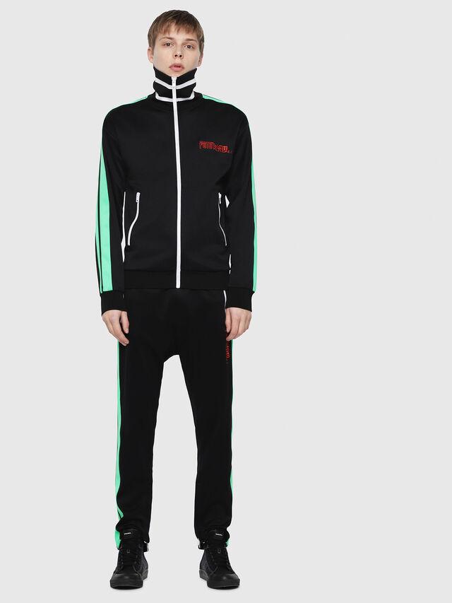 Diesel - S-HISOKA, Black/Green - Sweaters - Image 5