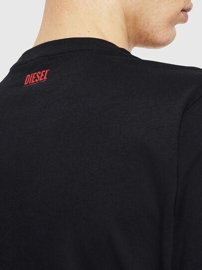 Diesel - T-JUST-J9, Black/Red - T-Shirts - Image 5