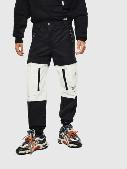 Diesel - P-MELTY, Black/White - Pants - Image 1