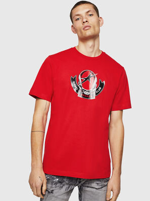 T-JUST-B1, Fire Red - T-Shirts