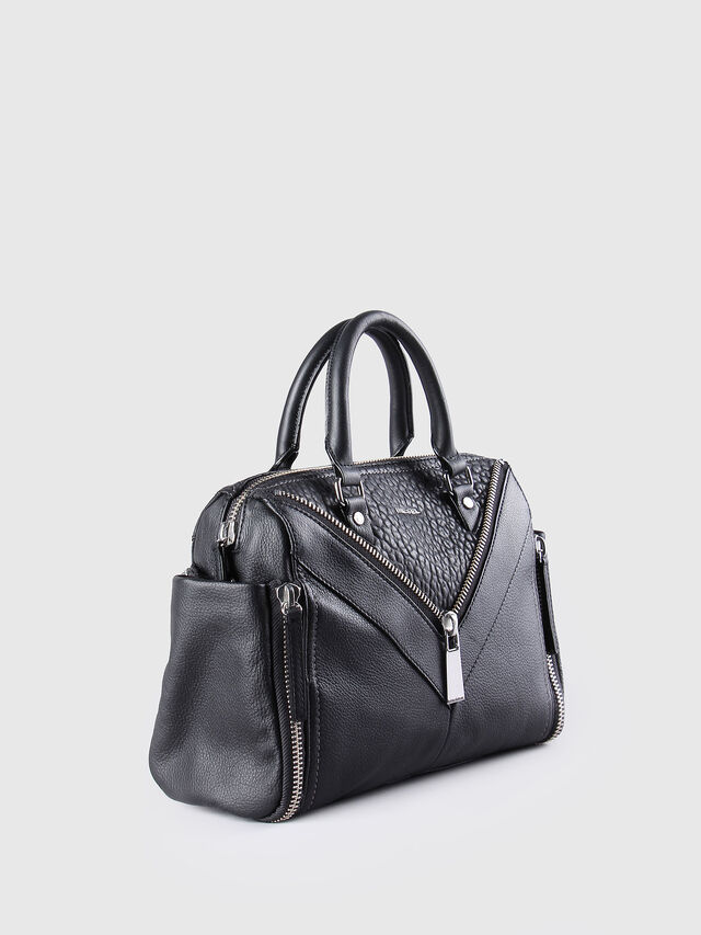 Diesel - LE-TRASY, Black Leather - Satchels and Handbags - Image 3